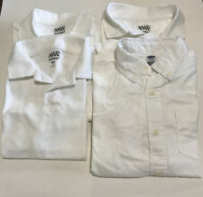 Old Navy School Uniform Boys White 3 Tshirts & 1 Long Sleeve Shirt Size 8