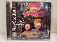 40 Winks (Sony PlayStation 1 PS1, 1999) COMPLETE W/ Reg. Card - FREE SHIPP