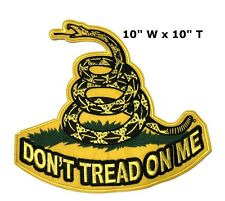 GADSDEN Snake FLAG Don't Tread On Me Biker Motorcycle MC New BACK PATCH LRG-0118