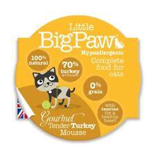 Little Big Paw Gourmet Wet Cat Food, Tender Turkey Mousse 8 x 85g