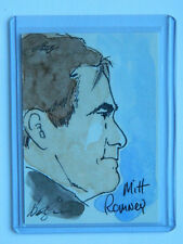 Mitt Romney 2012 Leaf Hand Drawn Sketch Card 1 of 1!