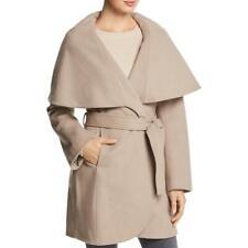 Tahari Марле женский безразмерный воротник шерстяная смесь пальто накидка