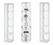 Convenience Concepts Oxford 5-Tier Corner Bookcase, White