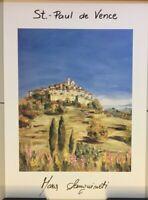 Framed Print By Mara Sanguineti 19 1/2 X 26 1/2, St Paul de Vence 1of2