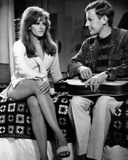 A Raquel Welch Sexy Black And White In Bed Legs Crossed 8x10 Picture Celebrity P