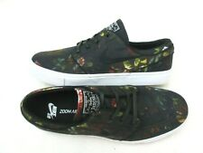 Nike Mens Zoom Stefan Janoski Canvas Floral Skate Shoes Black White Size 10.5