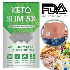 Detox weight loss Keto Slim 5X Apple Cider Vinegar Garcinia Cambogia 30 Patches