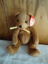 "TY Beanie Babies ""SHERWOOD"" Plush Brown Bear. 2002. 6"".  NEW"