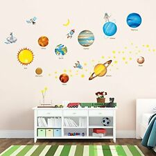 Decowall DW 1307 Planets In Space Peel Stick Nursery Kids Wall Decals  Stickers