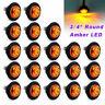 "20 X 3/4"" Round Amber LED Bullet For Truck Trailer Side Clearance Marker Light"
