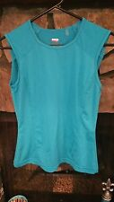 Women's Blouse Size S Mauve Turquoise Athletic Sleeveless Very Nice
