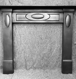 LARGE VICTORIAN / CAST IRON FIREPLACE / OPEN FIRE WOODBURNER SURROUND
