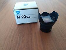 Minolta 20mm F/2.8 AF Lens Sony a-mount