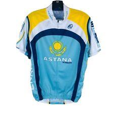 Invista Coolmax Sz Medium Blue White Short Sleeve Cycling Jersey