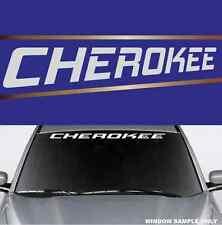 "Cherokee Fun Decal  Windshield Banner Vinyl Lettering 40"""