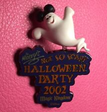 Disney Pin - Bobbing Ghost Mickey's Not So Scary Halloween Party Mnsshp 2002 Le