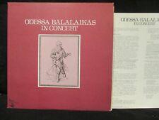 Odessa Balalaikas In Concert LP w/Insert