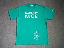 NEW Toys R Us ToysRUs TRU Green Naughty/Nice Christmas 2017 Employee Work Shirt