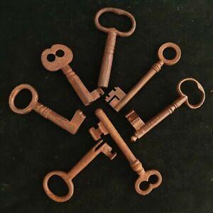 Antique skeleton key (1). open and closed barrel. READ DESCRIPTION