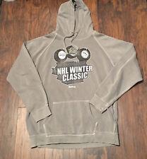 2011 NHL Winter Classic Capitals vs Penguins gray Reebok Sweatshirt  Sz 2XL