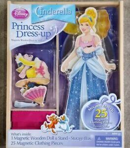 Disney Cinderella Wooden Magnetic PRINCESS Dress-Up Artistic Studios NEW Sealed