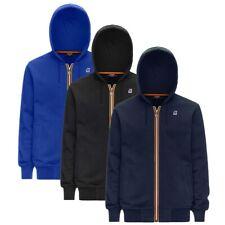 Felpa K-Way maglia ANTHONY 100% cotone con cappuccio full zip uomo K1121GW
