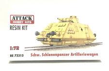 Attack Hobby Kits RESIN 1/72 German Armored Train Schienenpanzer Artilleriewagen