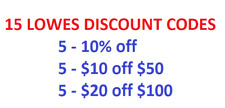 15 Lowes Discount Codes Code - 10% off, $10 Off $50 & $20 off $100
