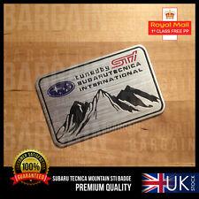 SUBARU IMPREZA STI WRX WRC BADGE EMBLEM DECAL TECNICA 270 RALLY TURBO MOUNTAIN