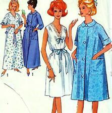 "Vintage 60s NIGHTIE & DRESSING GOWN Sewing Pattern Bust 34-36"" Sz 10 & 12 RETRO"