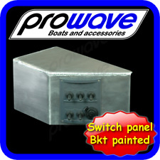 Boat switch panel, 5 way with 12 volt socket and alloy bracket unpainted