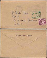 POSTAGE DUE GB 1963 LCC...DAIRY FESTIVAL SLOGAN...6d ADHESIVE