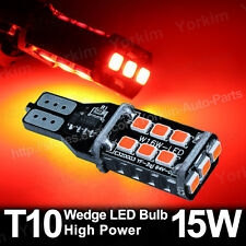 2X Pure Red T15 Wedge LED bulbs 921 Back up CanBus High Power 15-SMD 5630