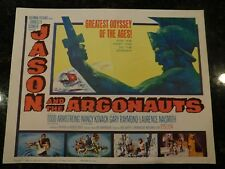JASON AND THE ARGONAUTS Original Title Lobby Card, C8.5 Very Fine to Near Mint