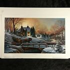 """HEADING HOME by TERRY REDLIN unframed 10.5"""" x 18"""" Lithograph Christmas Art Print"""