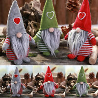 Christmas Ornament Heart Doll Decoration Pattern Gift Xmas Toys Faceless Party