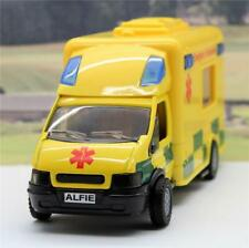 PERSONALISED PLATE GIFT Boys Toy 18cm Yellow Ambulance Lights Siren Box Present