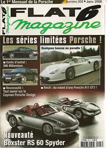 FLAT 6 203 PORSCHE 996 MILLENIUM CAYMAN S PORSCHE DESIGN EDITION 1 911 GT1