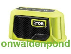 RYOBI PAD02 PAD02B 18V ONE+ COMPACT BLUETOOTH JOB SITE WIRELESS SPEAKER NEW TOOL