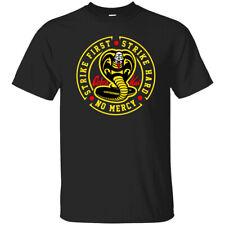 Personalised Cobra Kai Karate Kick T-Shirt,No Mercy Strike First Strike Hard 80s