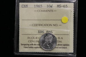 1965 Canada. 10 Cents. ICCS Graded MS-65 . (XDS886)