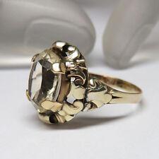 Ring mit einem hellen Citrin in 333/8K Gelbgold