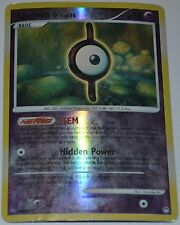 Reverse Holo Foil Unown I # 37/123 D&P Mysterious Treasures Set Pokemon Cards HP
