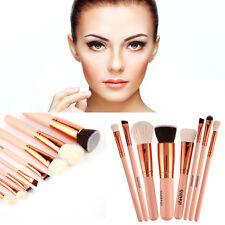 KIT Brochas Maquillaje Cepillos Pincel Labial Polvo Fundación delineador de ojos