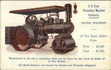 JI Case Threshing Machine Co Racine WI Road Roller Traction Engine Postcard