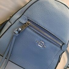 COACH Andi Blue Leather Backpack 30530 Small New without tags Cornflower Medium