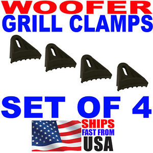 4pc Set Sub Woofer Speaker Grill Clips Subwoofer Clamps
