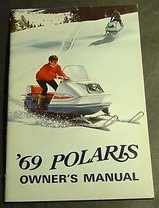 VINTAGE 1969 POLARIS SNOWMOBILE OWNERS MANUAL VERY NICE!!  (432)