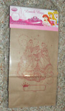 Disney Princesses Themed Brown Lunch Bags - New