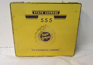Vintage State Express 555 Litho Cigarette Tin Case